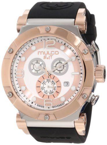 Mulco Unisex MW5-1623-021 Fashion Analog Swiss Movement with Silicone Band Watch