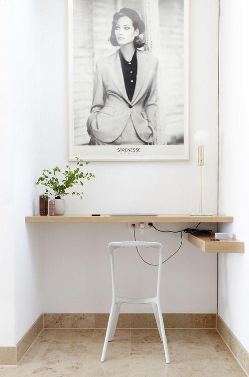 home office. diy desk pale wood