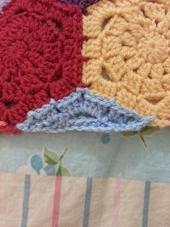 meanyjar: January 2013 Tutorial for making hexie points for hexagon blanket