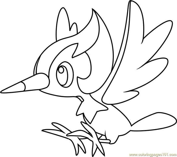 Pikipek Pokemon Sun And Moon Coloring Page Moon Coloring Pages