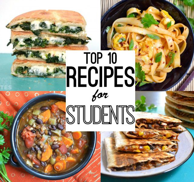 Easy recipes for students abroad