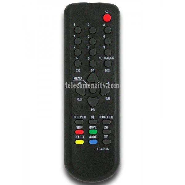 R-40A15 este o telecomanda cu aspect original de cea mai buna calitate folosita pentru televizoarele marca Daewoo . Nu are nevoie de coduri pentru a functiona, telecomanda R-40A15 are nevoie doar de baterii pe care le puteti comanda impreuna cu telecomanda. Va recomandam sa folositi pentru telecomanda R-40A15 baterii alcaline.