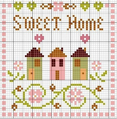 cross stitch chart - a very sweet pattern. Can't find the original - not sure if this is free or not. :(
