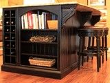 Bookcase and wine rack