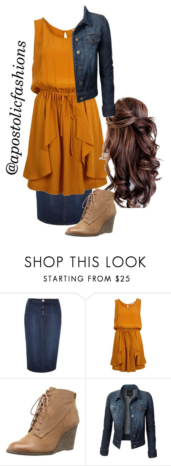 """Apostolic Fashions #1099"" by apostolicfashions on Polyvore featuring River Island, Miss Selfridge, Disney, Lucky Brand, women's clothing, women, female, woman, misses and juniors"