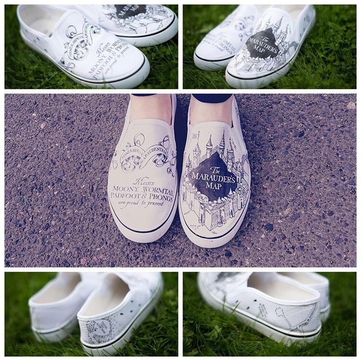 Harry Potter Marauder's Map shoes!