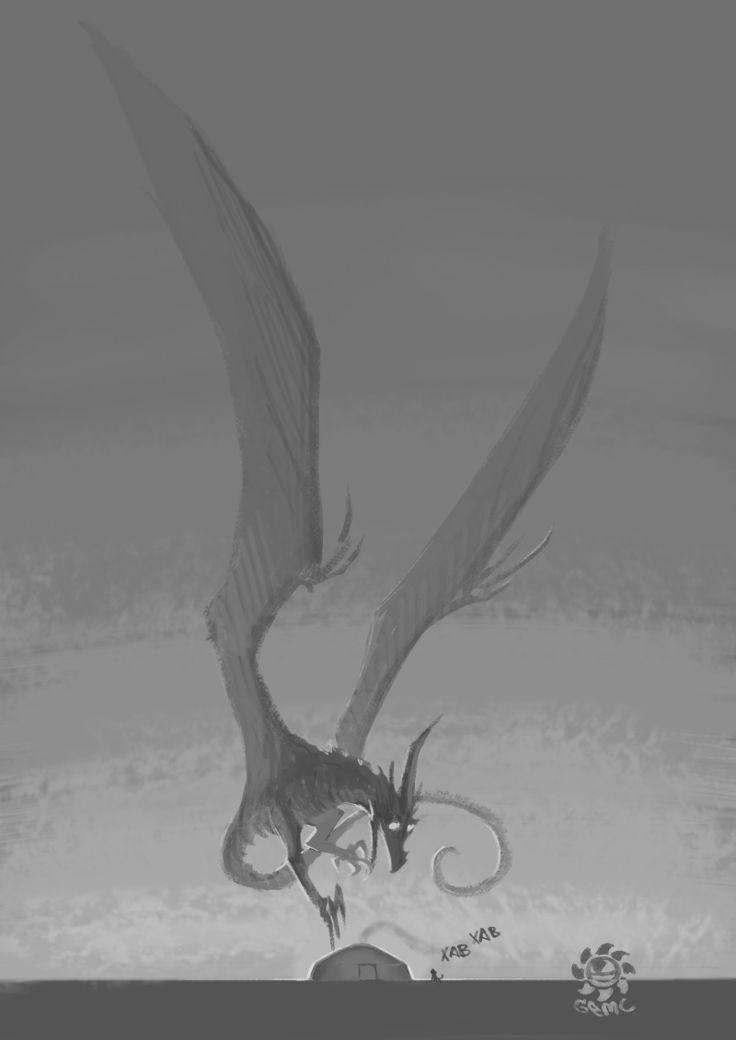 Dragon likes Mongol ger by HappyMorningStar