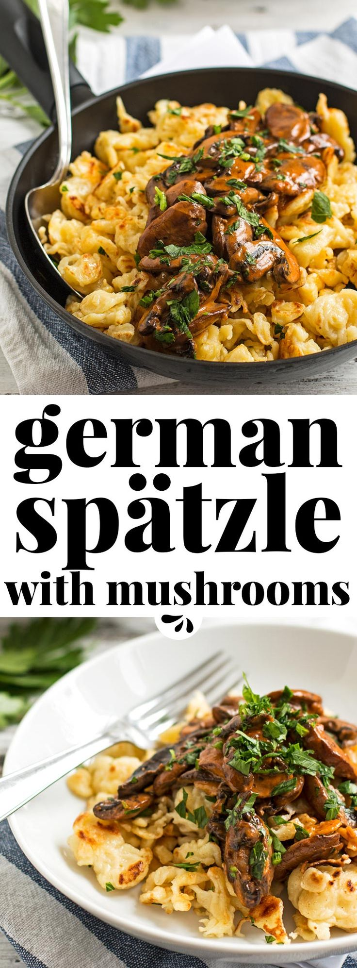 You don't need to travel to Munich to eat this traditional German dish called Jägerspätzle! This Bavarian classic is often served at the Oktoberfest and makes for a seriously exciting family dinner. They are small dumplings made from flour, eggs and milk. The sauce is a delicious rich Mushroom gravy, perfect for fall! My recipe was handed down to me by my Bavarian grandmother, so it's 100% authentic and tastes simply amazing. via @savorynothings