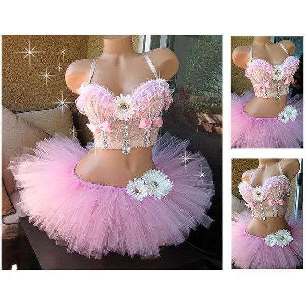 Rave Outfit Rave Bustier Bra and Tutu 34c Pre Made Rave Corset... (€130) ❤ liked on Polyvore featuring intimates, black, corsets, lingerie, women's clothing, black bustier, corset lingerie, black corset lingerie, black lace lingerie and lace corset