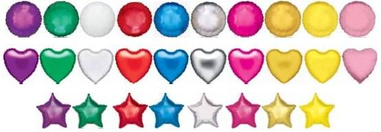 Mylar and non-latex plastic Balloons order in sets of 10