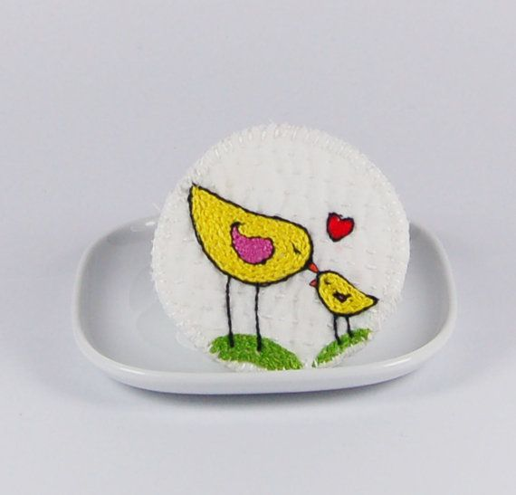 Perfect gift for the young lady who has everything! Hand embroidered badge by Julie  Bull on Folksy, £9.95