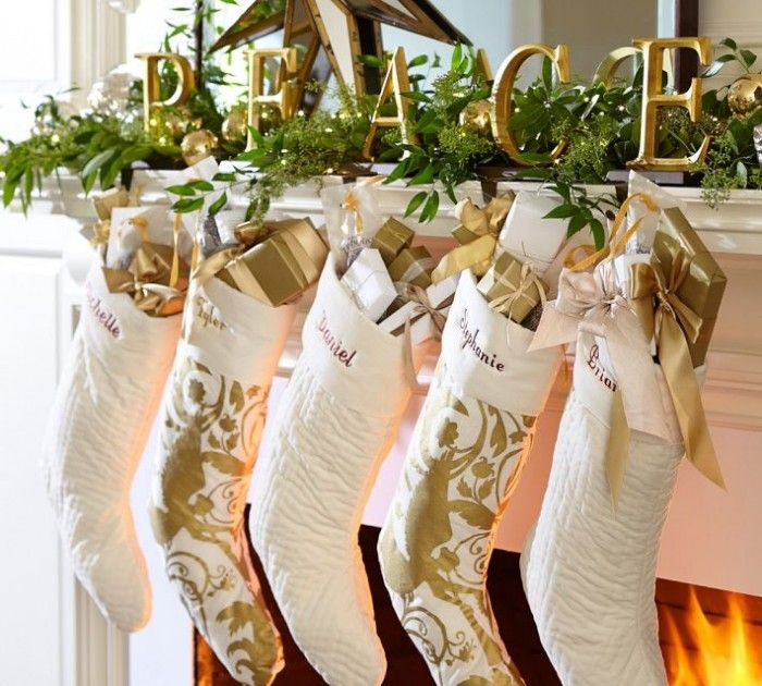 Fireplace Mantel Decorations for Christmas | http://decorandstyle.co.uk/fireplace-mantel-decorations-for-christmas/