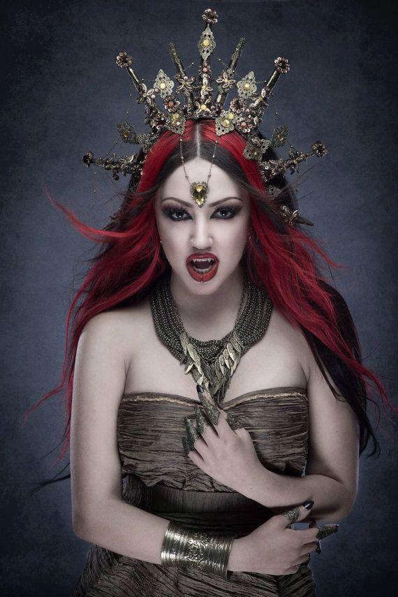 Queen of the Damned Gothic Vampire Headdress Tiara от Fairytas
