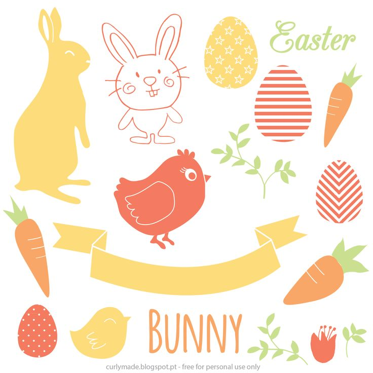 Free Easter Vectors for DIY Easter Cards