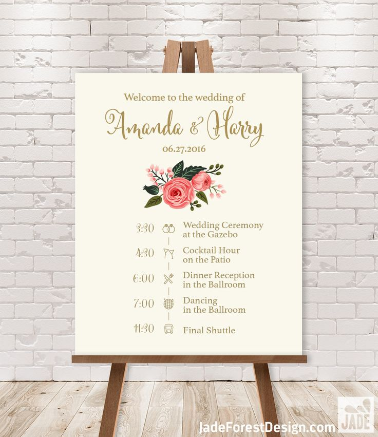 1000+ ideas about Wedding Agenda on Pinterest | Rustic wedding ...