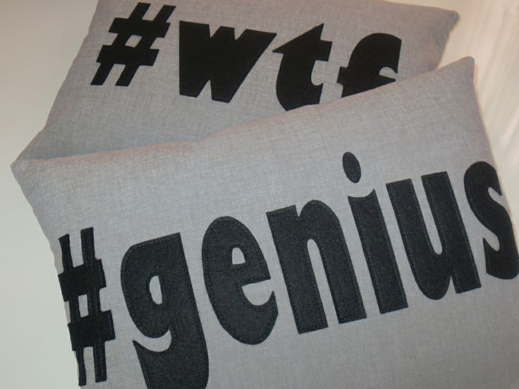 #genius and #wtf cushions ... LOVE IT!