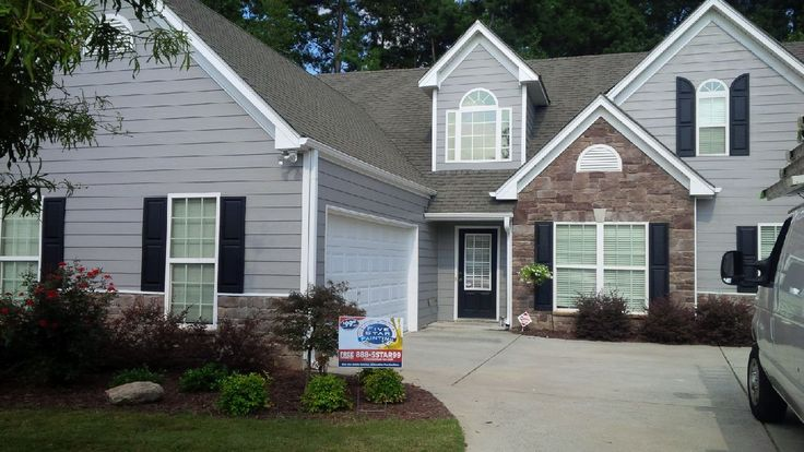 After photo - SW 7669 Summit Gray Sherwin Williams Duration Satin ...