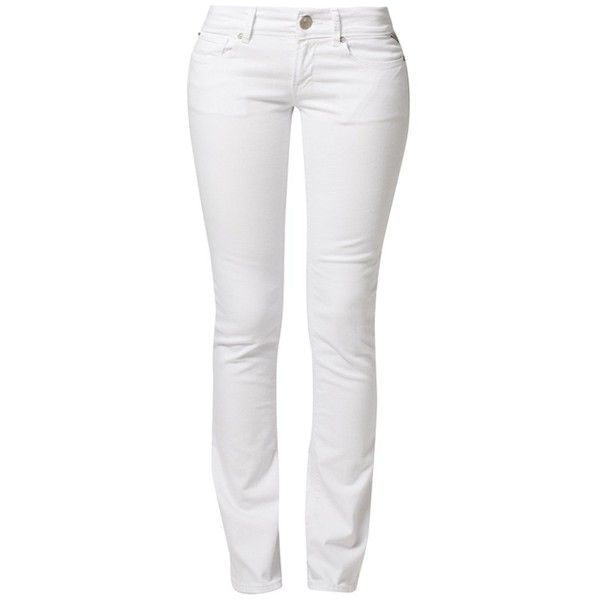 Replay REARMY Bootcut jeans ($125) ❤ liked on Polyvore featuring jeans, pants, bottoms, calças, white, women's trousers, white bootcut jeans, replay jeans, boot-cut jeans and white boot cut jeans