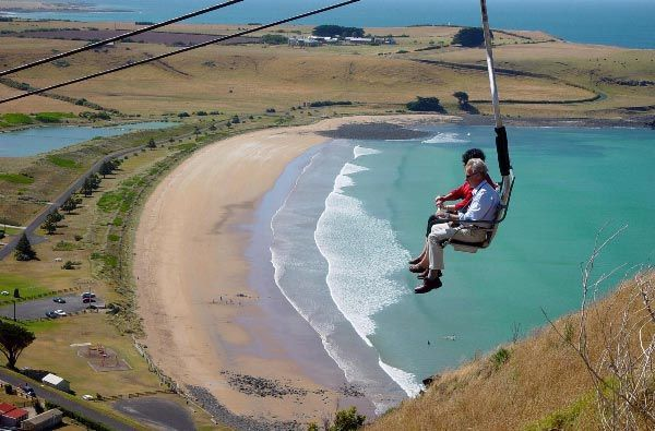 Chairlift to the top of The Nut - Stanley, Tasmania