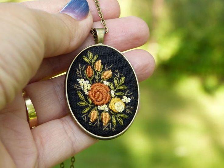 Beautiful Hand Embroidered Jewelry By Marta Krajewska http://designwrld.com/hand-embroidered-jewelry/