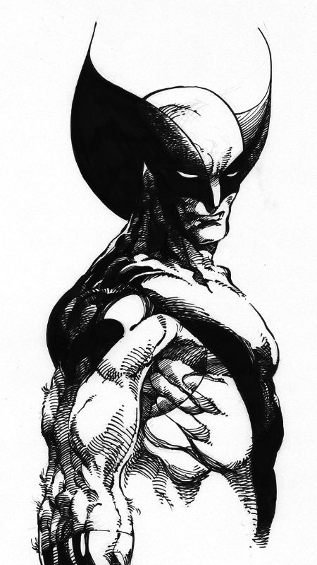 Wolverine-Kayell after Barry Windsor Smith-close up Comic Art
