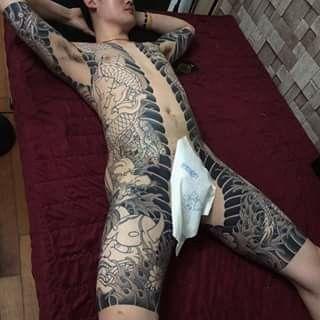 Uigu lee 39 s work full torso irezumi shading japanese for How to shade tattoos