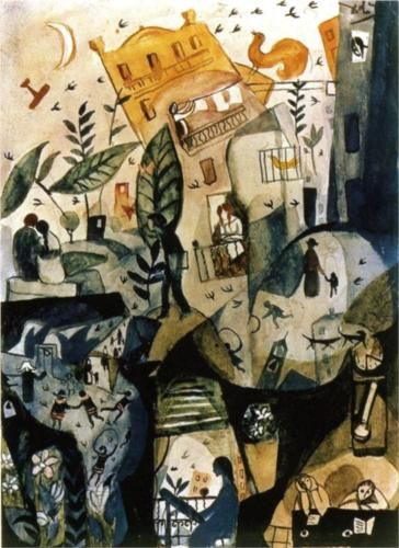 Salvador Dali (1904 - 1989) | Expressionism | The First Day of Spring - 1923