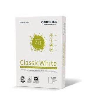 Papier A4 100% Recyclé STEINBEIS CLASSICWHITE - Ange Bleu - 80g - CIE58 -500 feuilles