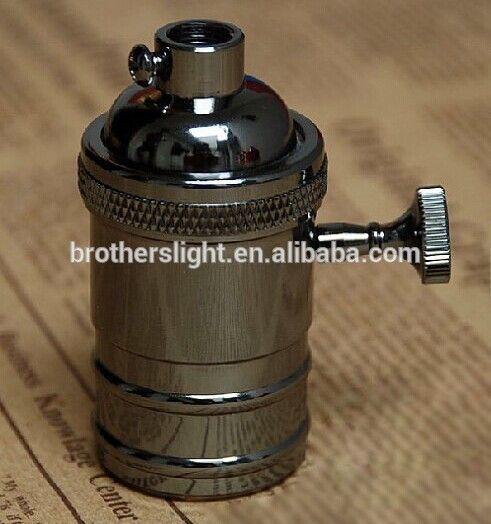 Donker Koper E27 vintage Socket met schakelaar on/off-DIY E27 vintage stijl edison licht socket