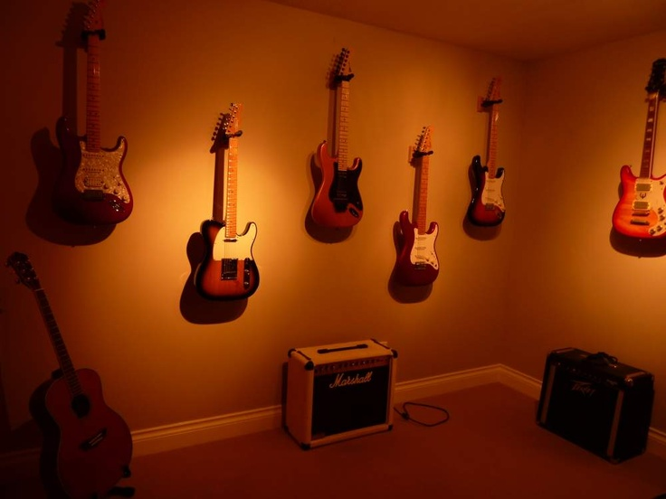 Hang Guitar On Wall 12 best jam room images on pinterest | music rooms, guitar room