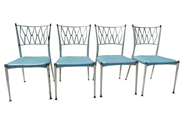 Metal Patio Chairs, Set of 4 on OneKingsLane.com