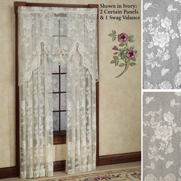 Abbey Rose Floral Lace Window Treatment