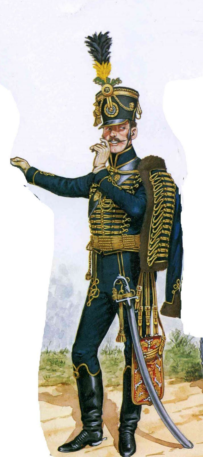 Austrian Hussar Napoleonic Wars  Also inspiration for Raoul's masquerade costume in Phantom of the Opera.