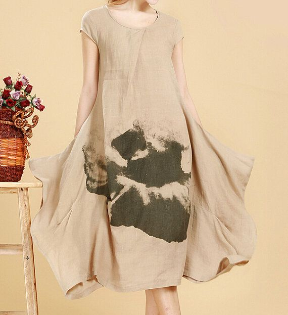 Summer Loose Fitting sundress women maxi dress in brick door MaLieb