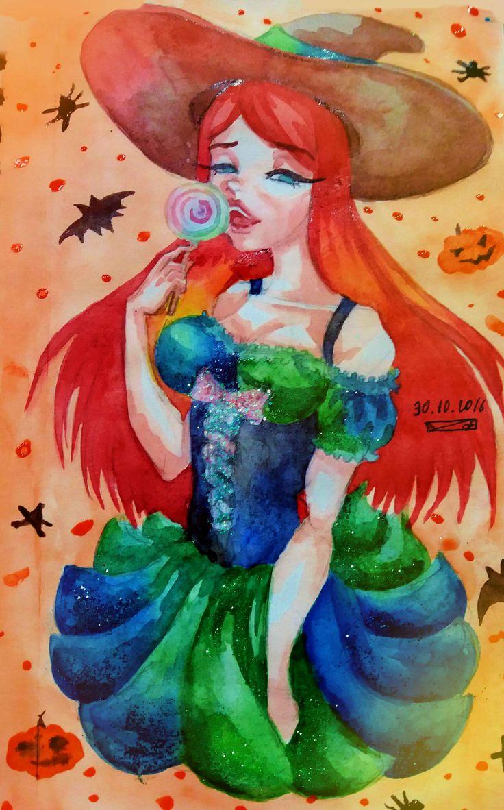#art #watercolor #halloween