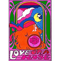 Valentine Poster,3d Poster, Love on a Rose Valentines, Wall Poster