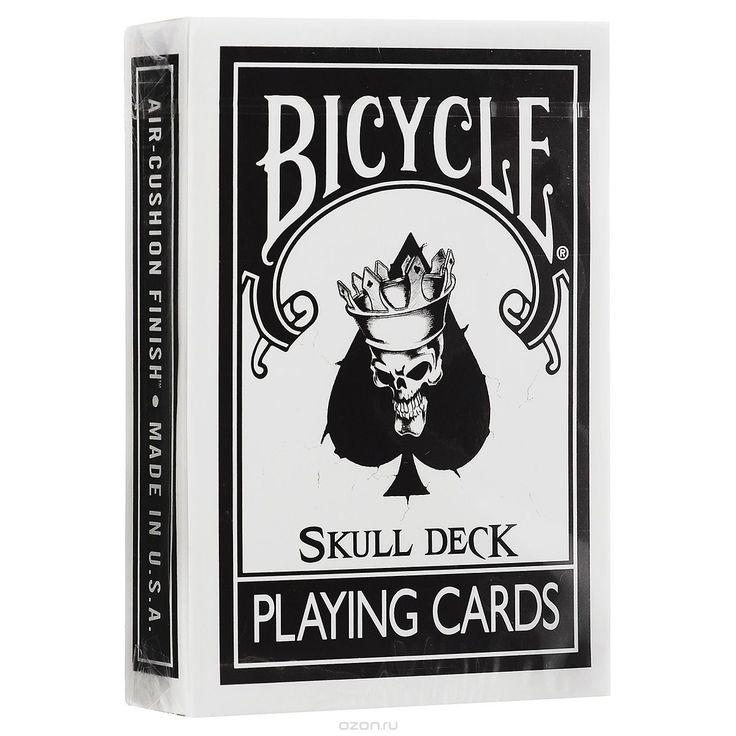 """Карты игральные Bicycle """"The Skull Deck"""", цвет: черный, белый - купить по выгодной цене с доставкой. Интерьер от Bicycle в интернет-магазине OZON.ru"""