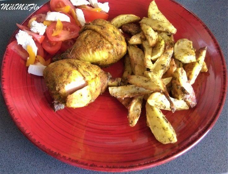 Pillons de poulet marinés et ses potatoes maison