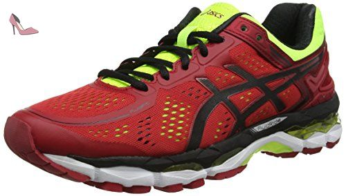 Asics Gel-kayano 22, Chaussures de Running Entrainement homme, Rouge (Red Pepper/Black/Flash Yellow), 41.5 EU - Chaussures asics (*Partner-Link)