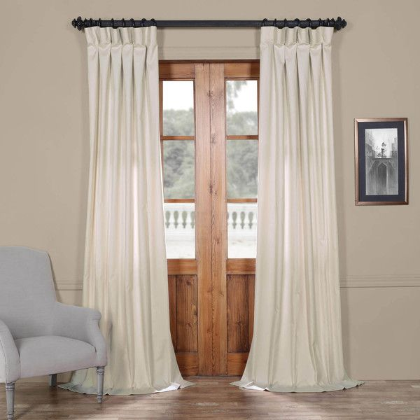 Hazelwood Beige Solid Cotton Curtain ($49) ❤ Liked On Polyvore Featuring  Home, Home
