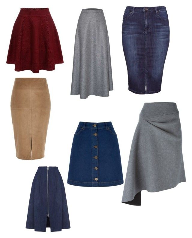 """Юбки для Натуральный стиль, фигура Груша"" by perepelochka on Polyvore featuring мода, River Island, DKNY, James Lakeland, Oasis, Whistles и Alexander McQueen"