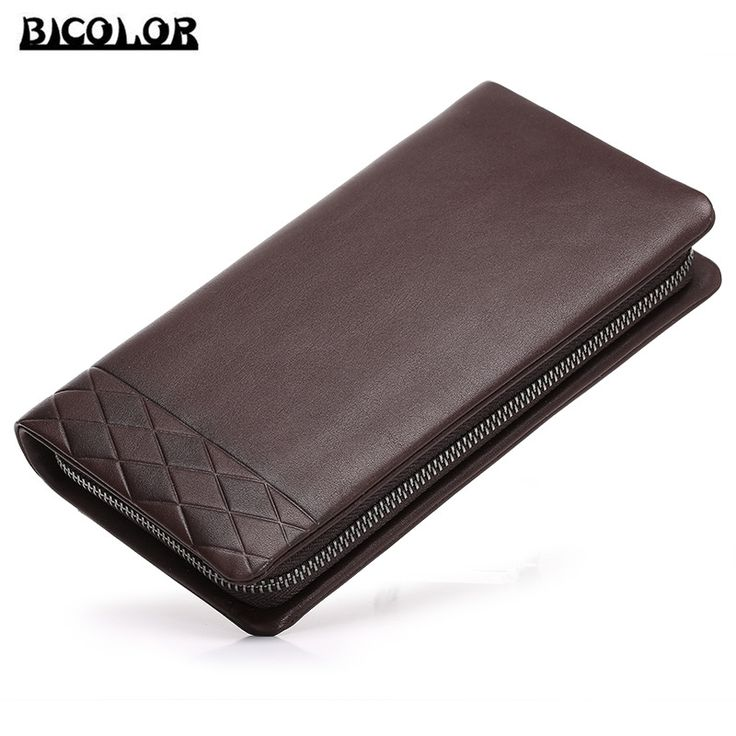 BICOLOR Wallet for Money and Cards Luxury Coin Leather Purse for Mens Wallets and Purses Men's Wallets Money Clip Leather Wallet