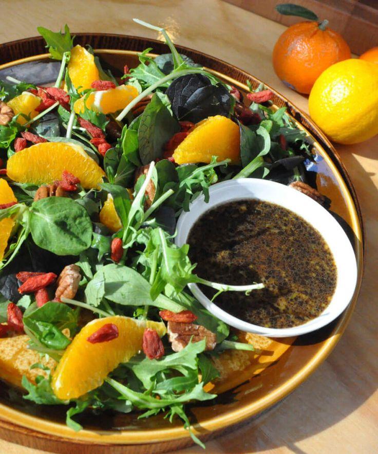 Winter Citrus Vinaigrette! What better way to use up the abundance of winter citrus fruits than to make a power salad with a citrus vinaigrette?