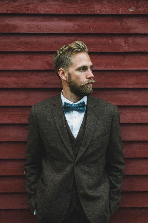 tweed three piece suit | image via: junebug weddings