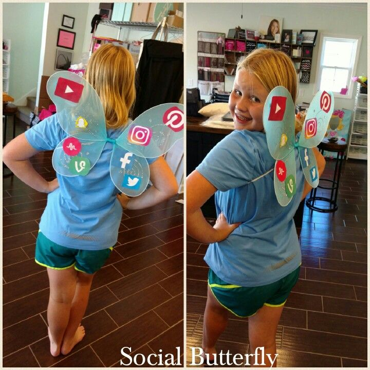 A fun costume for my Social butterfly.  This is a fun school project for Idiom day. #idiom