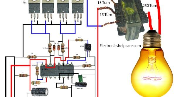 How To Make An Inverter Using 12v To 220v Electronics In 2020