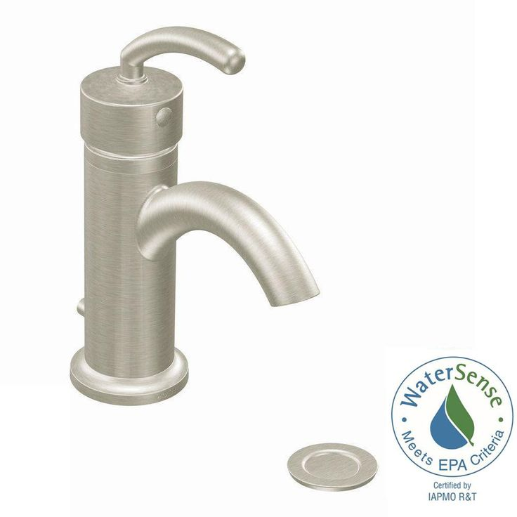 MOEN Icon Single Hole Single-Handle Low-Arc Lavatory Faucet in Brushed Nickel