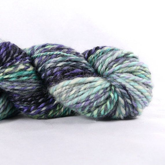 Destash SALE Hand Spun Aran Weight Yarn Zero by Bohoknitterchic
