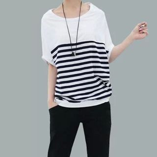 Striped Batwing T-Shirt