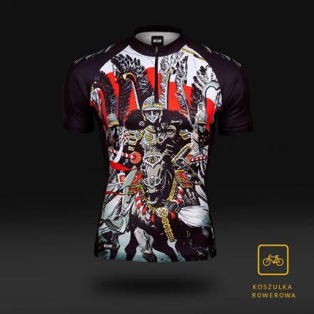 Koszulka sportowa Koszulka rowerowa Husaria -  - odzież sportowa Red is Bad